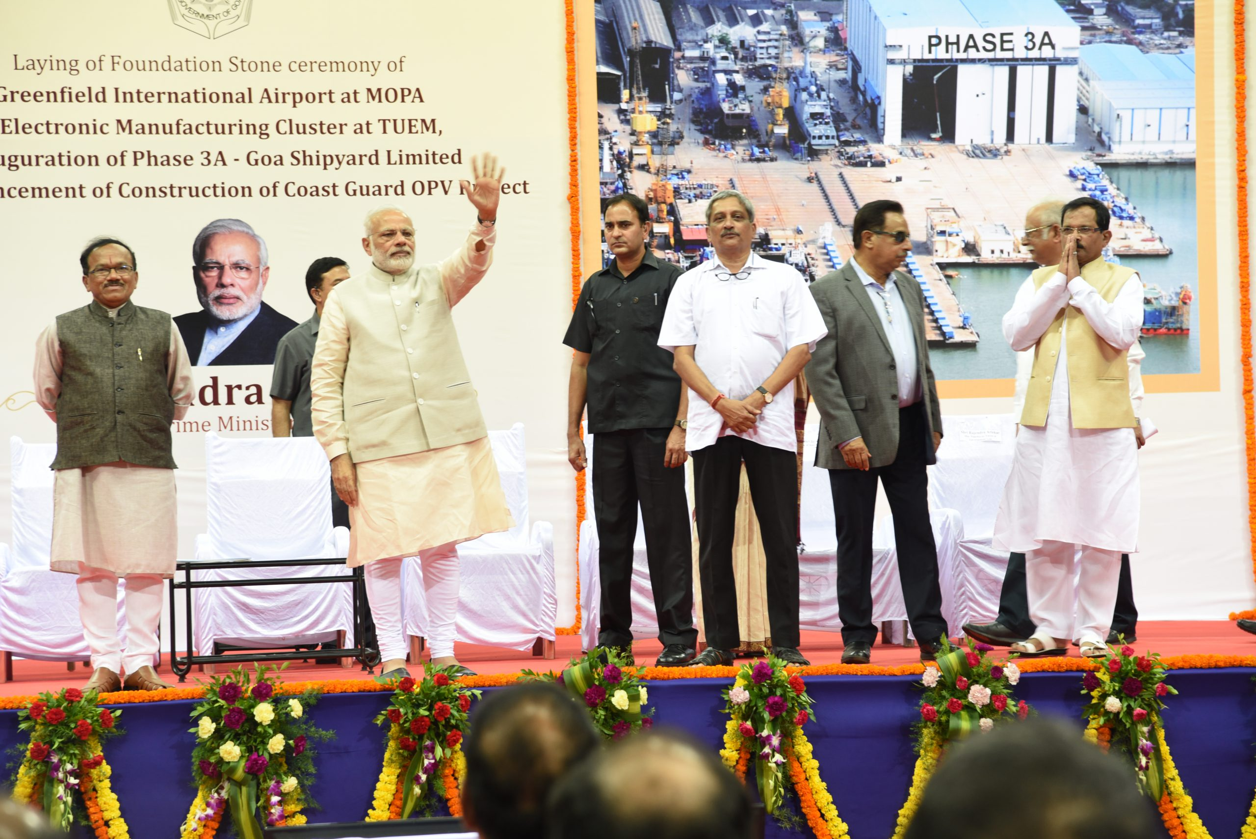 Prime Minister of India Laid foundation Stone for Mopa Airport at Taliegao, 13-11-2016