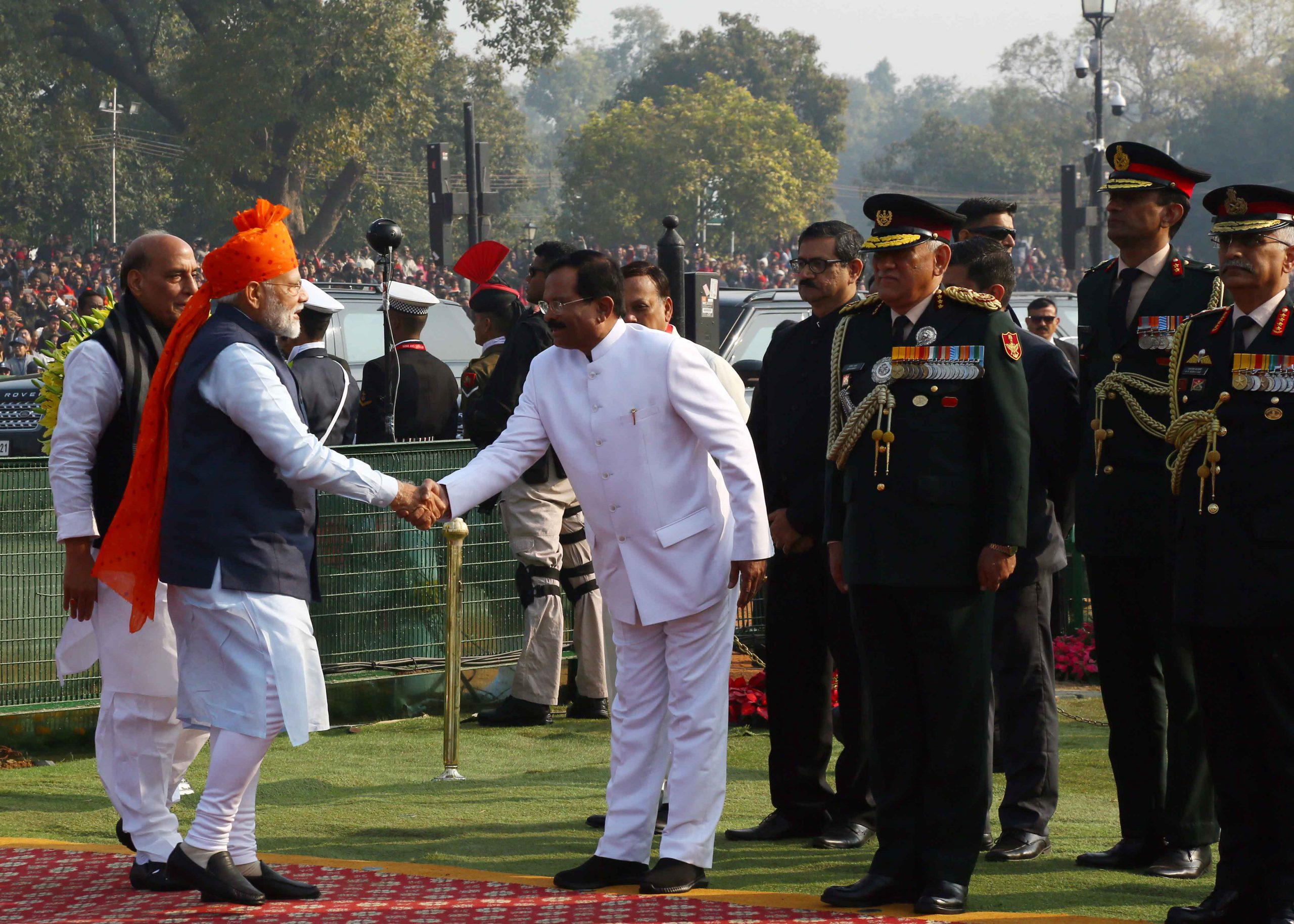 VVIP's Arriving at Saluting Dias, on the Occasion of 71st Replubic Day Parade 2020 on 26-01-2020
