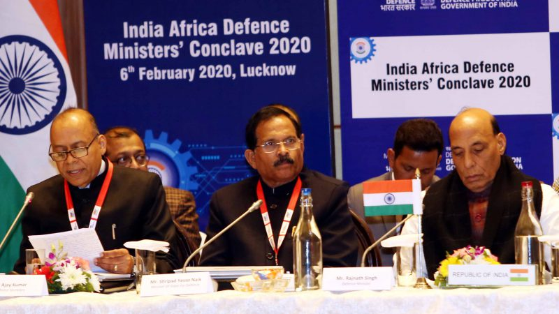INAUGURATION OF 'INDIA AFRICA DEFENCE MINISTERS' CONCLAVE – 2020LA' by Hon'ble Defense Minister , Sh Rajnath Singh at Lucknow.
