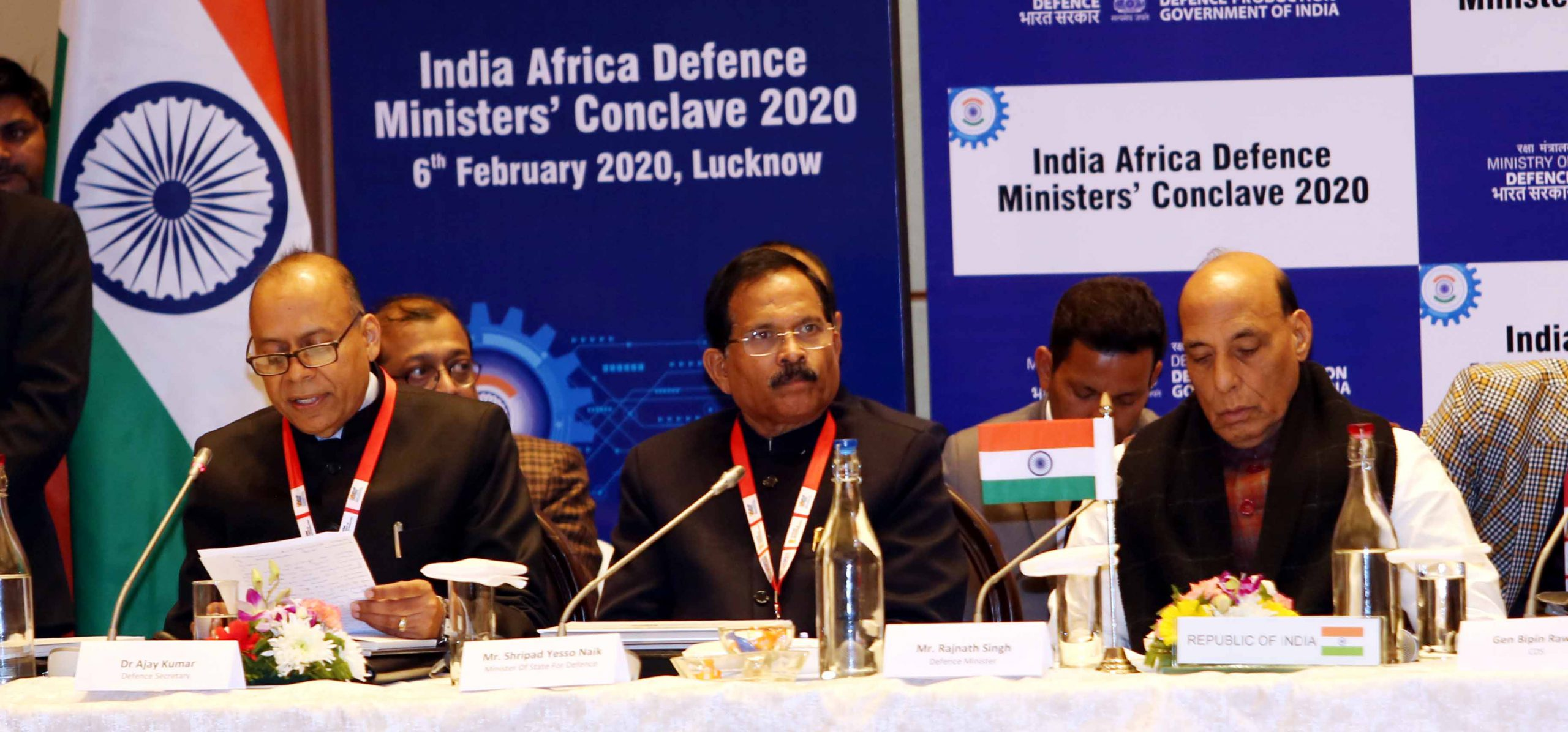 INAUGURATION OF 'INDIA AFRICA DEFENCE MINISTERS' CONCLAVE – 2020LA' by Hon'ble Defense Minister , Sh Rajnath Singh at Lucknow
