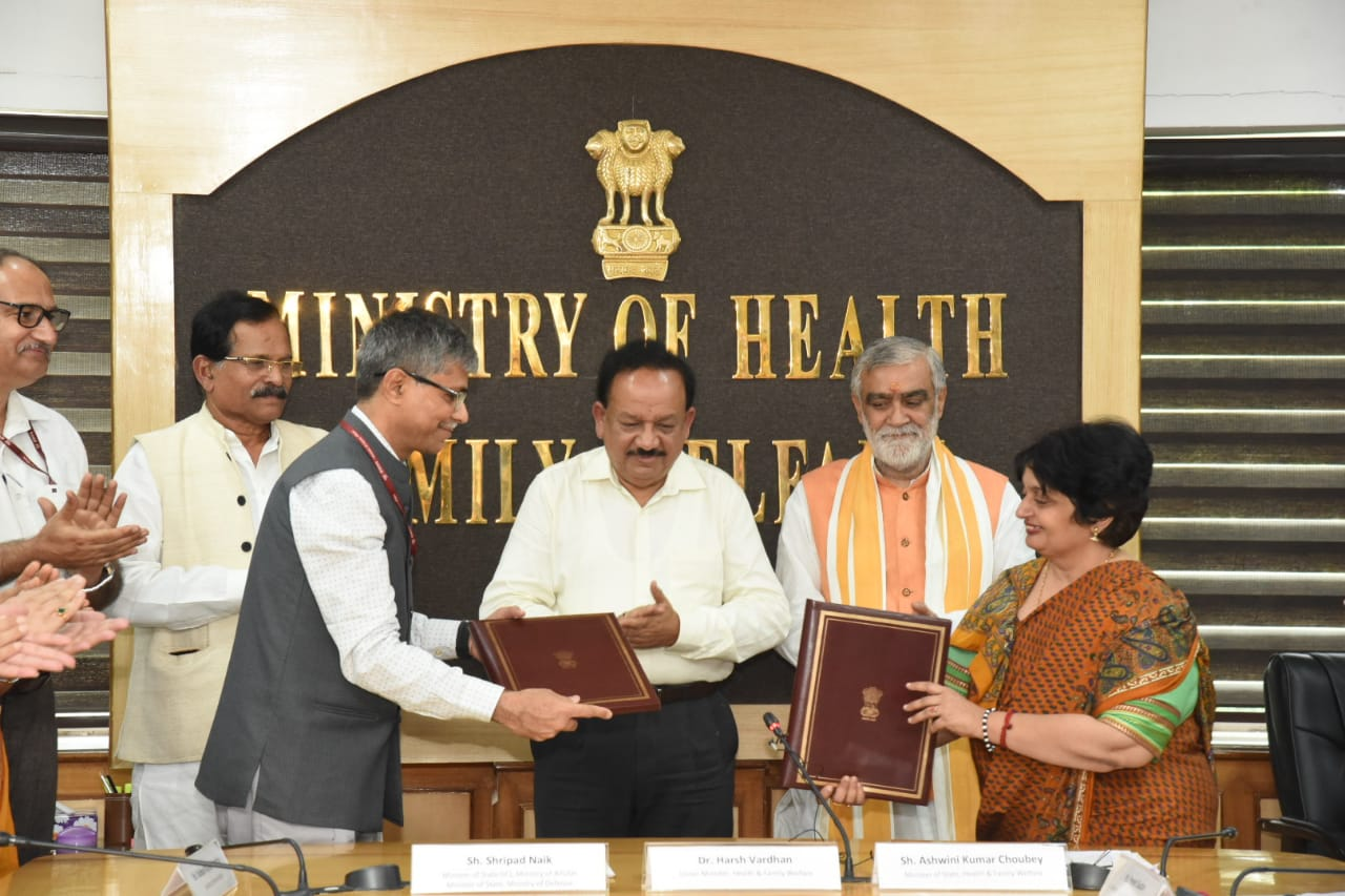MoU Signed between Ministry of Health and Ministry of AYUSH for TB