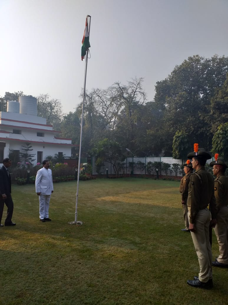Republic Day at Ministers Delhi residence